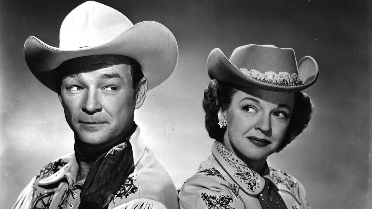 From The Archives Dale Evans Roy Rogers Queen Of The West Los Angeles Times