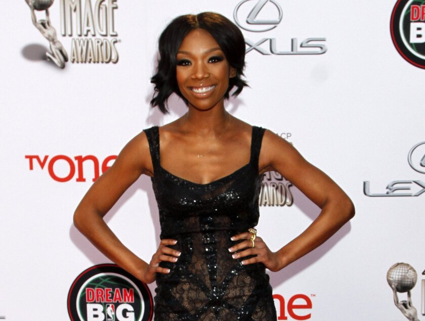 Brandy Norwood arrives at the 45th NAACP Image Awards in Pasadena last March