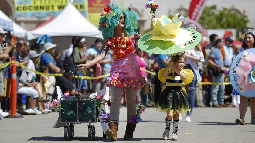 The Earth Day Parade celebrates the variety of life on earth and demonstrates a commitment to a clean, healthy environment.
