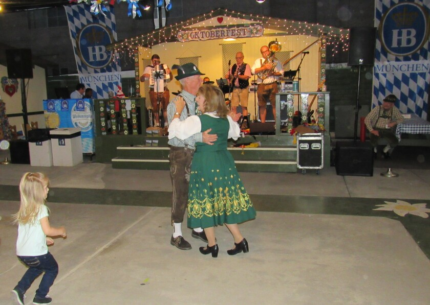 German band Die Guggenbach Buam gets people of all ages on the dance floor at the Oktoberfest in El Cajon. The event's second weekend starts Friday afternoon and continues through Sunday night.