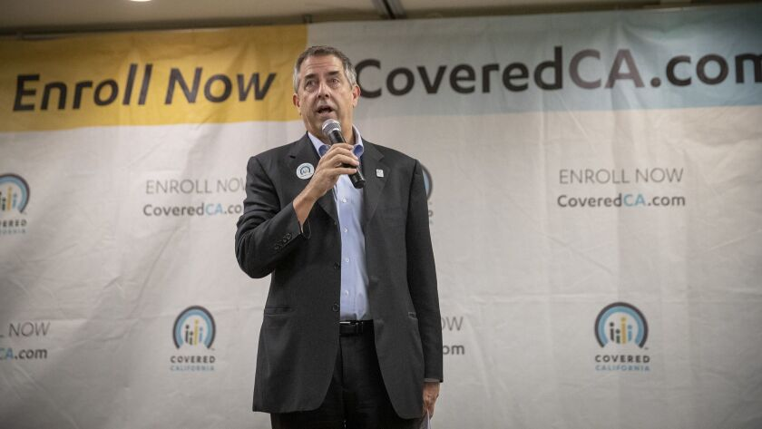 Peter Lee, executive director of Covered California, speaks at an event in January.