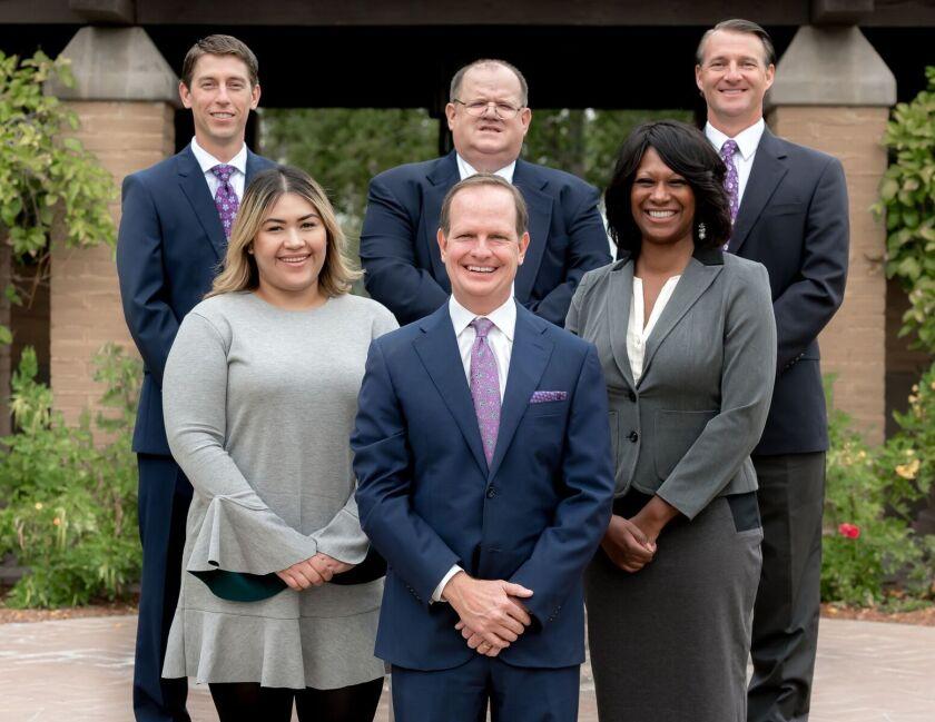 (Top row) Bobby Coffman, Steve Ashline, David Zeljak (Bottom row) Estefani Capilla, Scott Ashline, and Felicia Pomare.