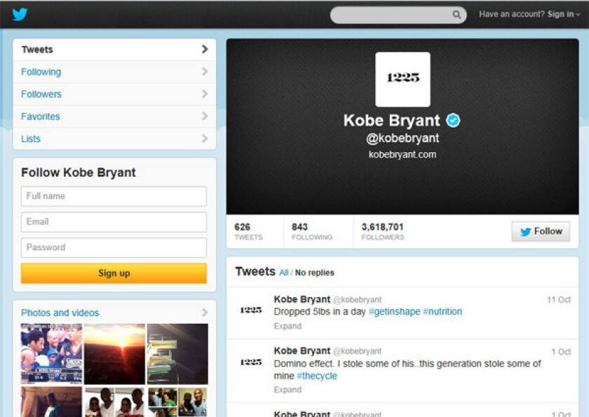 A look at Kobe Bryant's Twitter page reveals his new 1225 avatar.