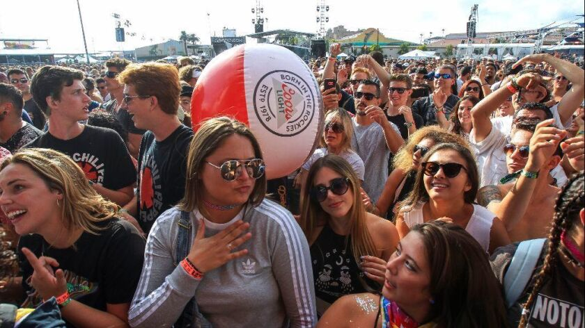Fans get into the festive vibe at KAABOO Del Mar.