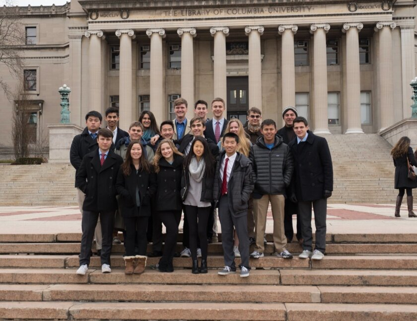 Pacific Ridge students at the Model United Nations Conference and Exposition.