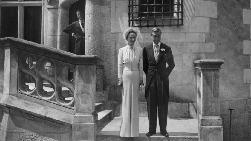 Edward VIII and Wallis Simpson at their wedding in 1937.