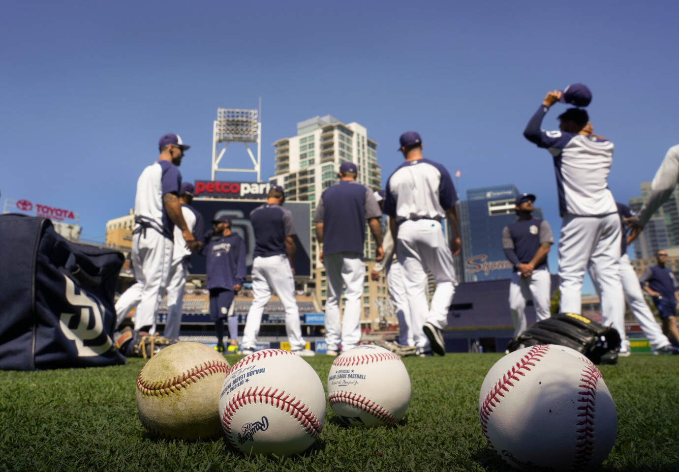 The eve before the Padres opening day at Petco Park