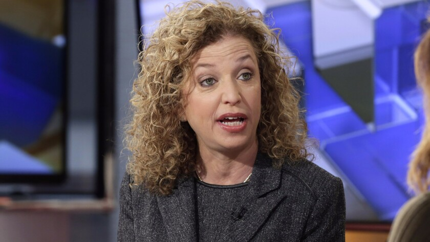 Debbie Wasserman Schultz's announcement comes after internal emails newly disclosed by the website WikiLeaks.
