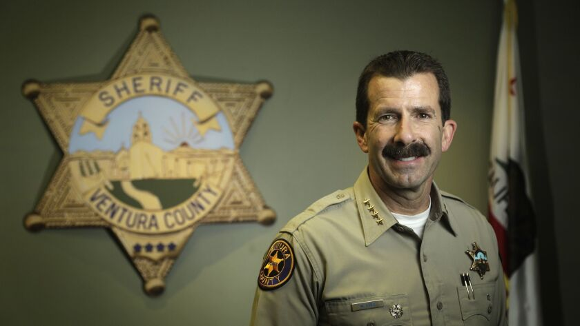 "VENTURA, CA -- DECEMBER 07, 2018: Ventura County Sheriff William ""Bill"" Ayub ran uncontested for she"
