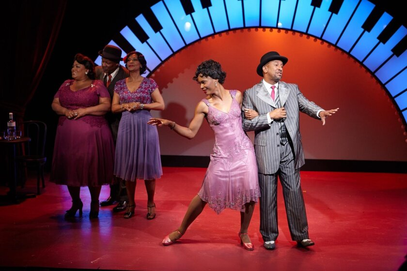 Yvonne Freeman, Ron Christopher Jones, Cynthia Thomas, Tony Perry and Anise Ritchie dance up a storm in 'Ain't Misbehavin – the Fats Waller Musical Show,' at North Coast Repertory Theatre.