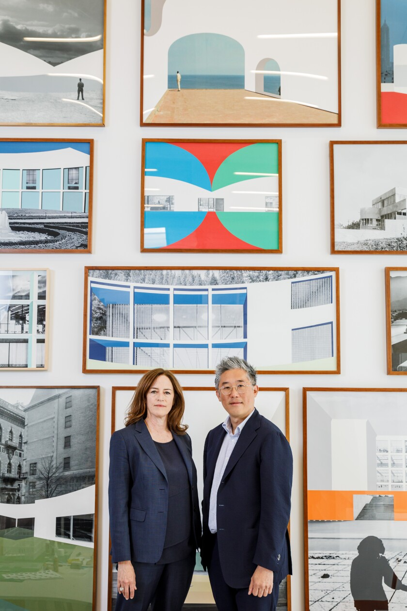 Sharon Johnston and Mark Lee in their West L.A. studio.
