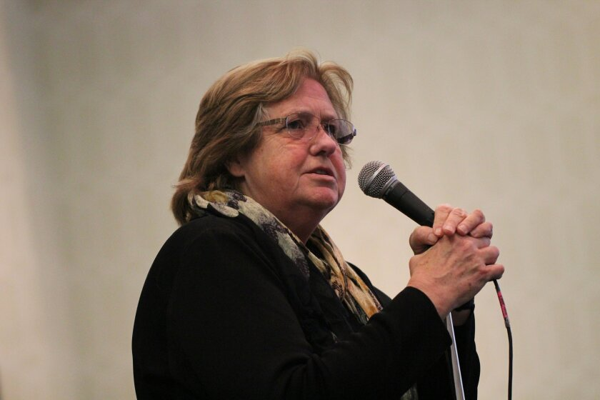 Jeanne Loring, a stem cell scientist at The Scripps Research Institute and Parkinson's disease patient advocate, speaks at the California Institute for Regenerative Medicine meeting in Los Angeles on Dec. 17, 2015.