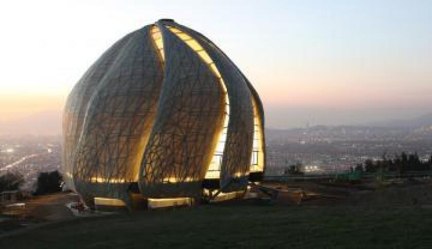 Local Carlsbad Baha'is were among those who attended the inaugural dedication of a Baha'i Temple in Santiago, Chile in mid-October.