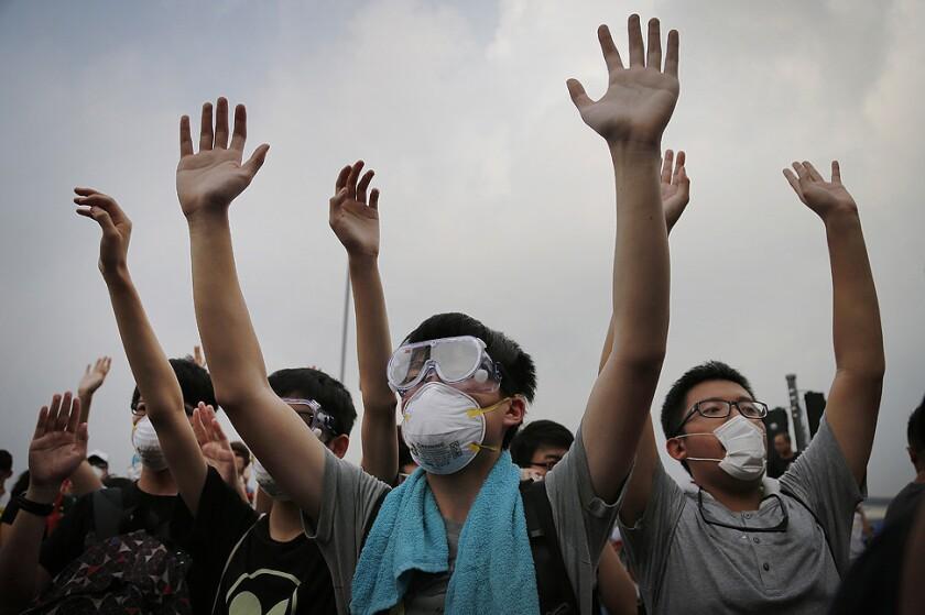 Hong Kong democracy protesters