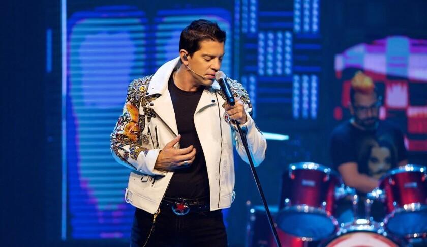 El cantante mexicano Yahir, durante un concierto en la Ciudad de México (México).