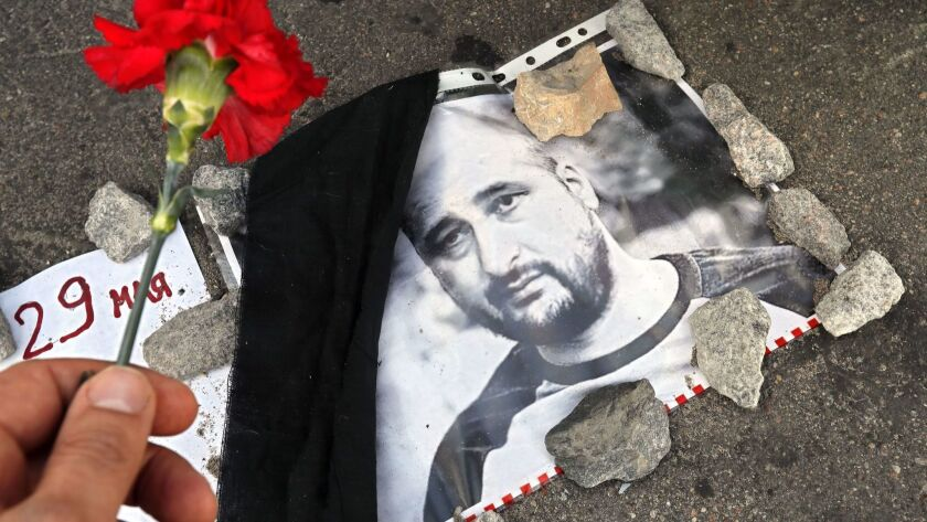 Russian journalist Arkady Babchenko killed in Kiev, Moscow, Russian Federation - 30 May 2018