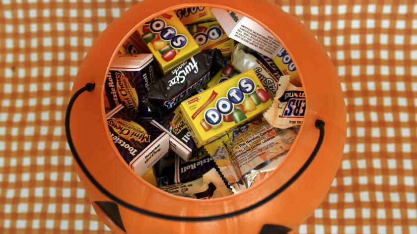 If you polished off this bucket of Halloween candy in one sitting, you might feel sick enough to die. But you probably wouldn't.