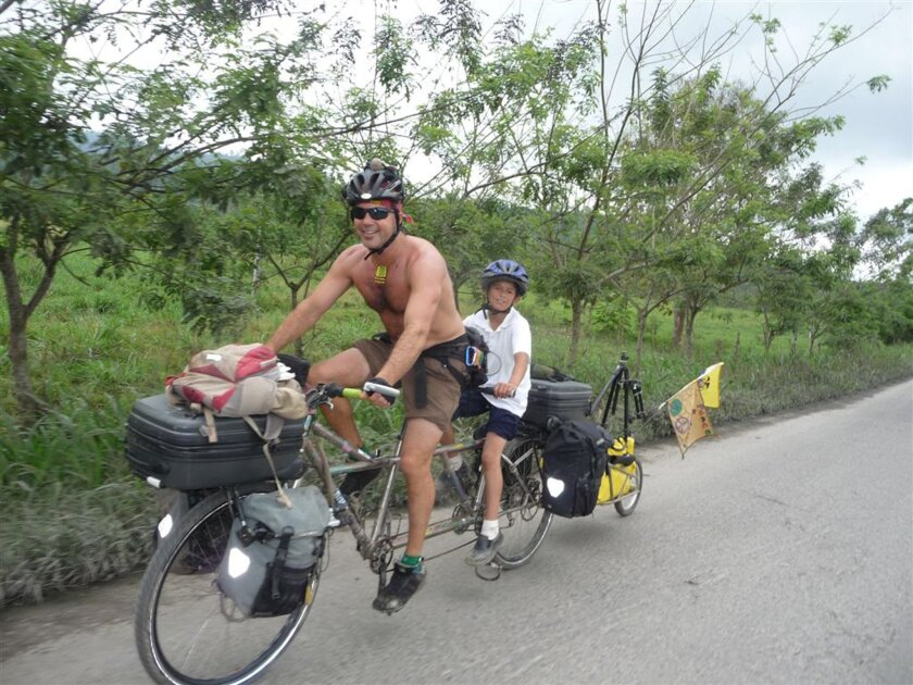 Jamie Bianchini in Ecuador sharing part of the ride.
