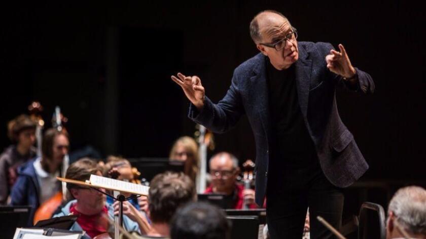 Steven Schick conducts the La Jolla Symphony & Chorus (LJS&C).
