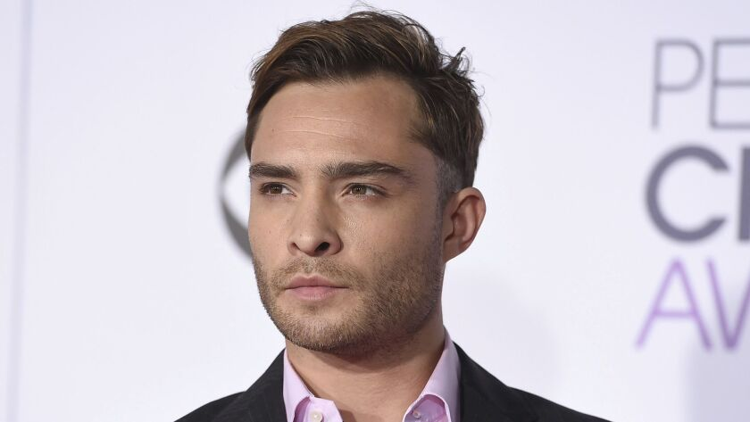 Ed Westwick arrives at the People's Choice Awards in Los Angeles on Jan. 6, 2016.
