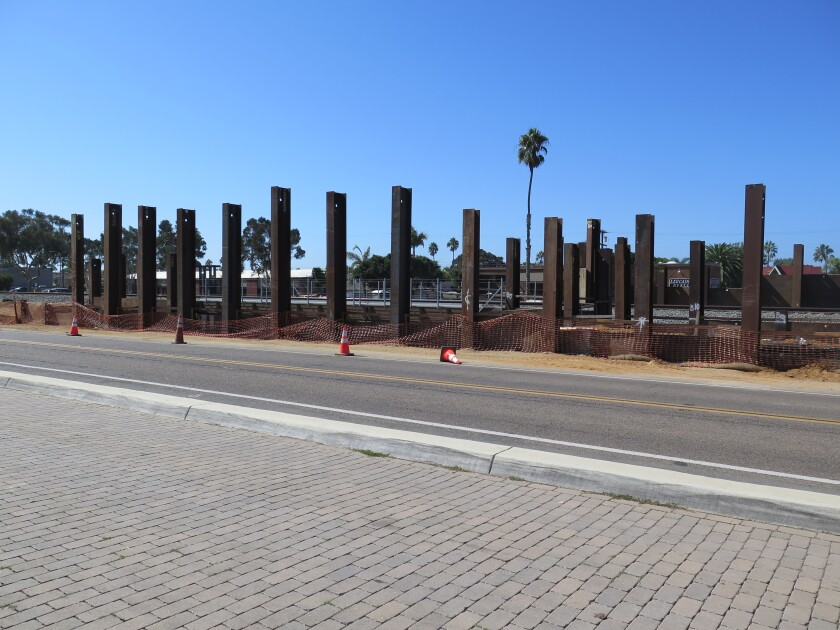 The El Portal undercrossing under construction.