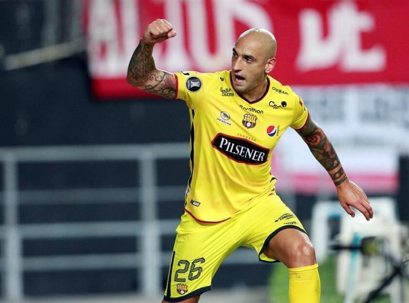 El jugador Ariel Nahuelpan celebra tras anotar un gol. EFE/Archivo