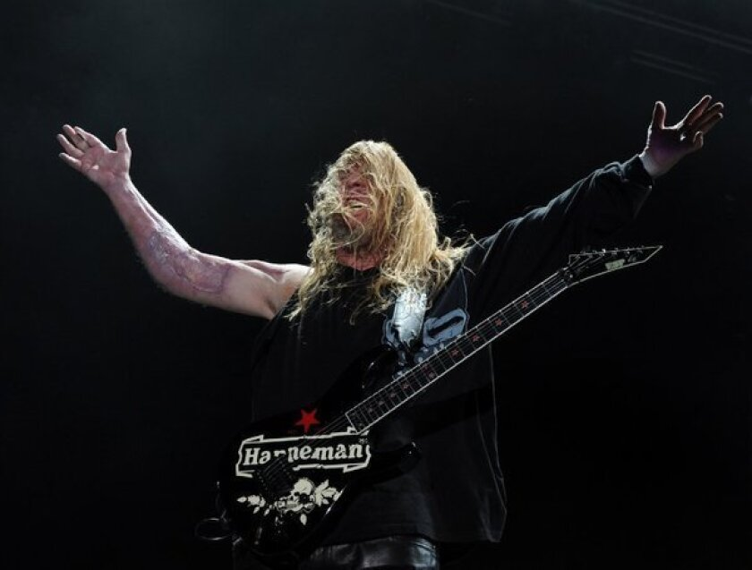 Jeff Hanneman, guitarist and co-founder of Los Angeles thrash metal band Slayer. The guitarist died on Thursday.