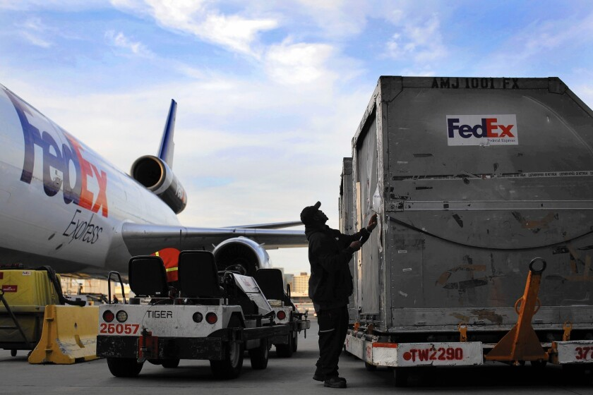 FedEx operates more than 650 planes and 100,000 trucks. The courier projects it will ship more than 290 million packages from Thanksgiving to Christmas Eve, an 8.8% jump from 2013.