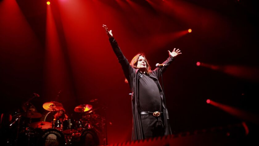 LOS ANGELES, CA-SEPTEMBER 3, 2013: Heavy metal stalwarts Black Sabbath rocked the Los Angeles Sports