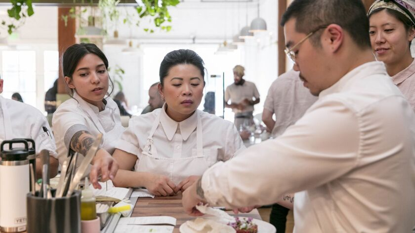 LOS ANGELES, CALIFORNIA - APR. 10, 2019: (C) Chef and owner of Nightshade Mei Lin, a 2014 Eater You
