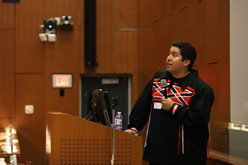 Alec Calac, medical student and president for the Association of Native American Medical Students