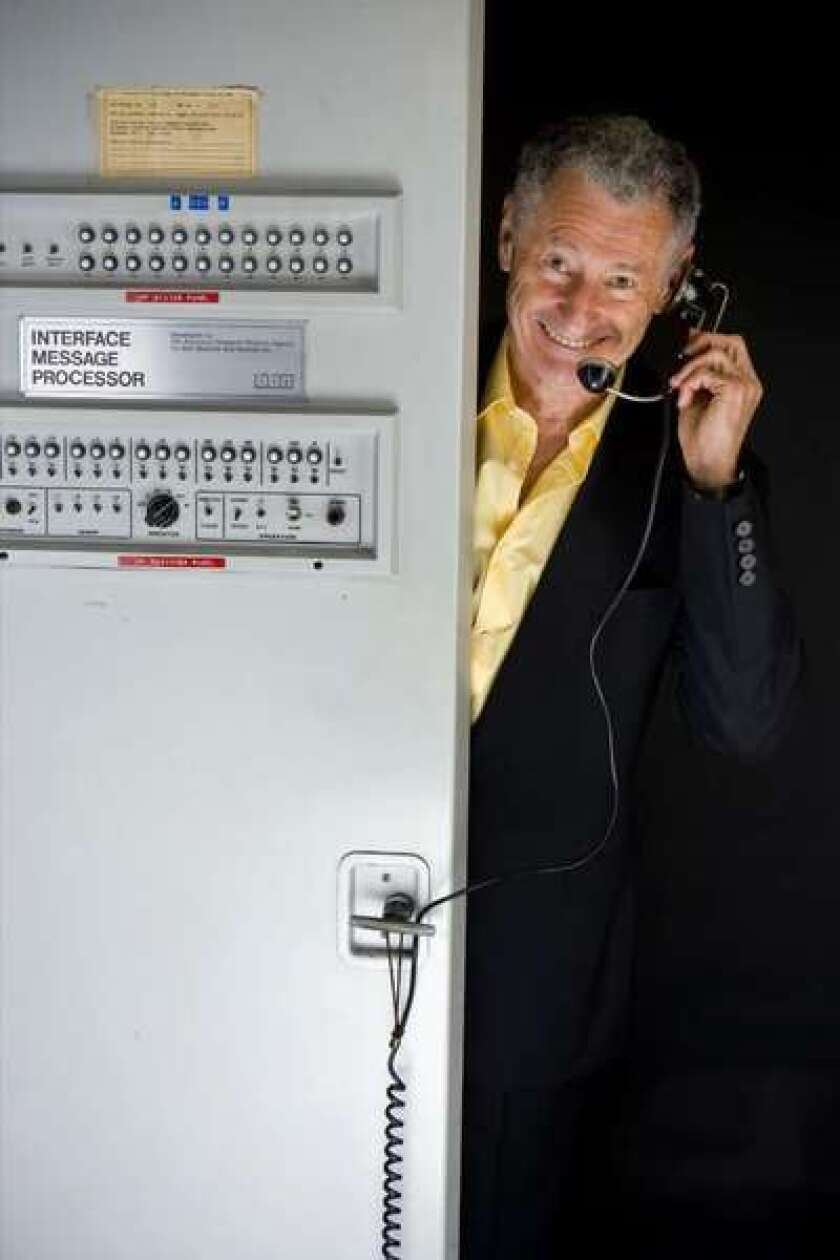 UCLA's Len Kleinrock and IMP-1 on the 40th anniversary of the first Internet transmission, 2009.