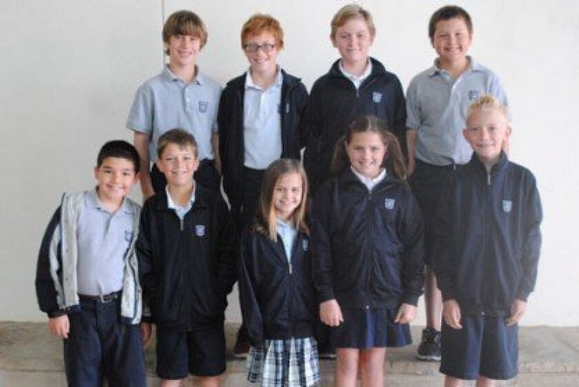 Horizon Prep 3rd-5th Grade ACSI Math Olympics Finalists: (1st Row, L-R) Nate Campbell, Trey Stepanow, Mia Mansukhani, Alex Hartung, Preston Wright (2nd Row, L-R) Chase Gianni, Joshua Jablonski, Daniel Hotson, Reece Bell, (Not pictured: Lucas Grizzle and Holli Horat)