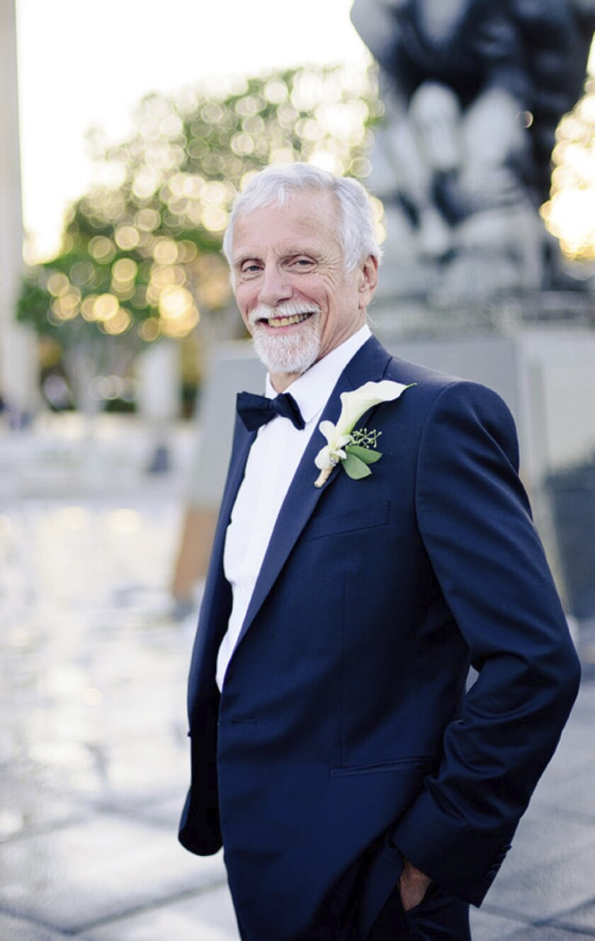 Kerry English on his wedding day in 2011 at the Music Center.