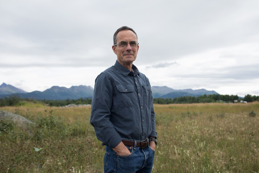 ANCHORAGE, ALASKA - Saturday, August 11, 2018: Assembly member John Weddleton in his district in Sou
