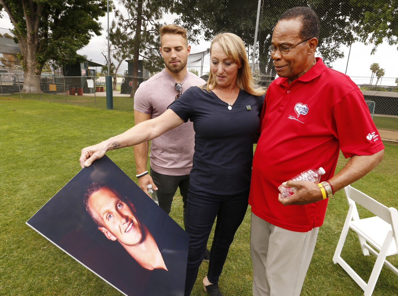 Rod Carew and Konrad Reuland families