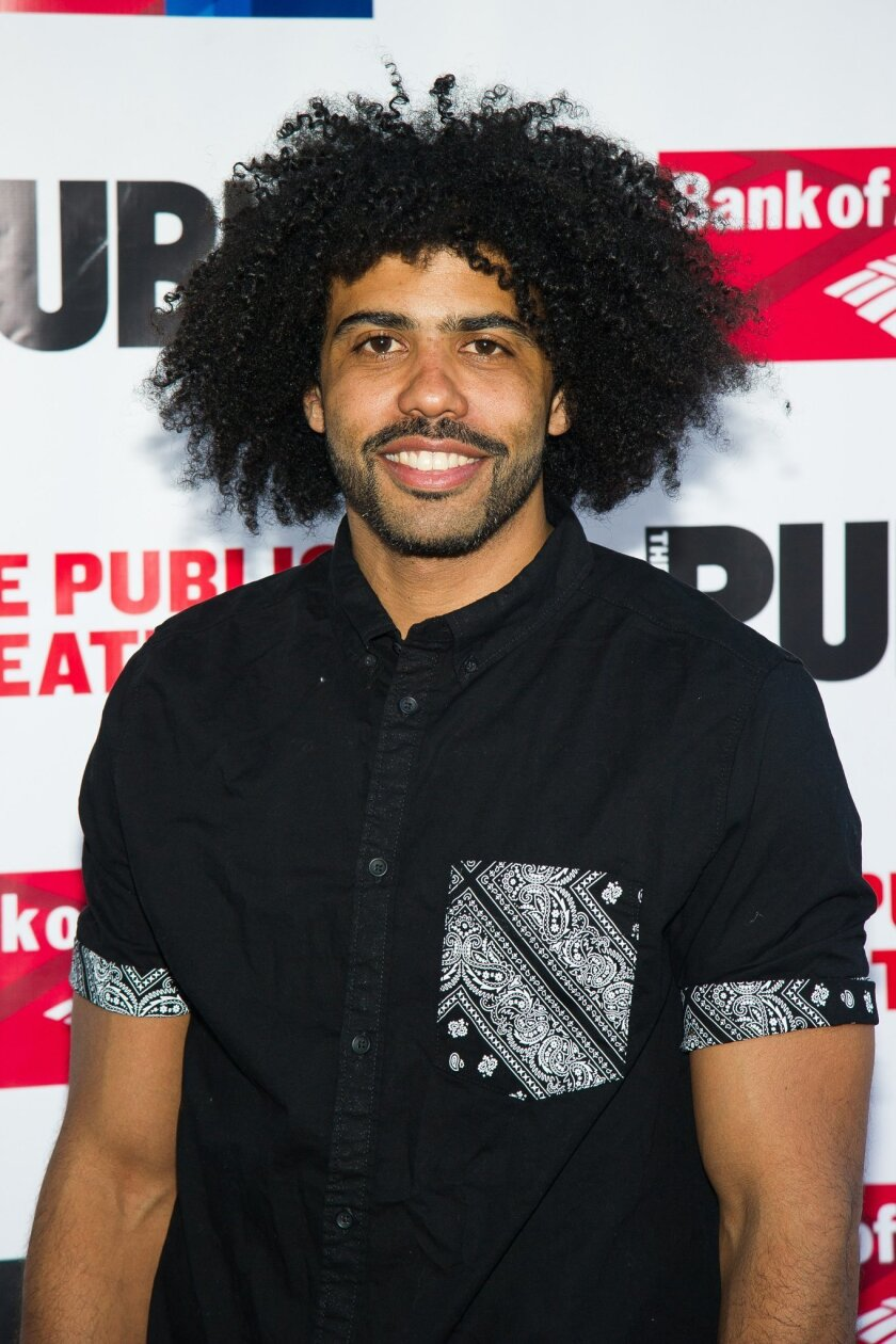 FILE - In this June 9, 2015 file photo, Daveed Diggs attends The Public Theater's Annual Gala at the Delacorte Theater in New York. Diggs will join Tony Award-winners Judy Kaye, Cady Huffman, Annaleigh Ashford and Randy Graff in a benefit to fight the lung-scarring disease pulmonary fibrosis. The event this year will be held on Feb. 29 at the Edison Ballroom in Manhattan. (Photo by Charles Sykes/Invision/AP, File)