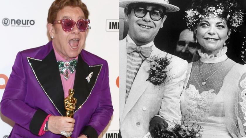 Elton John se casó en 1984. Fotos: AFP