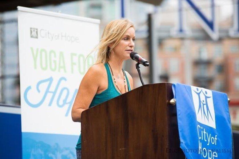 Claire Petretti Marti at Yoga for Hope