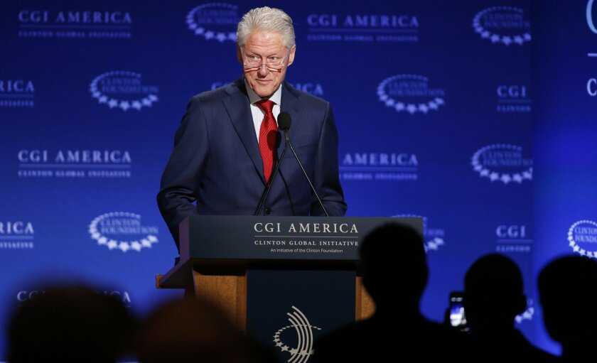 In 2005, Bill Clinton flexed his post-presidency power with the first meeting of Clinton Global Initiative with powerful politicians, business people and celebrities like Bono and Angelina Jolie in attendance. Companies there had to pledge a promise to do good in the world, and the might of the Clinton Foundation only grew from there. Efforts like the Clinton HIV/AIDS Initiative, Clinton Climate Initiative, Clinton Development Initiative and Clinton Health Matters initiatives were all spun off in the first decade of the new millennium.