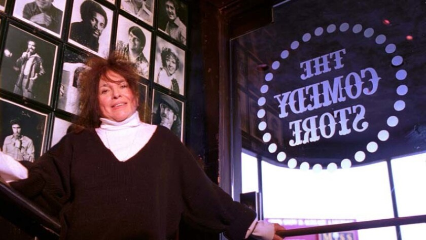 Mitzi Shore, owner of the Comedy Store, in 1993.