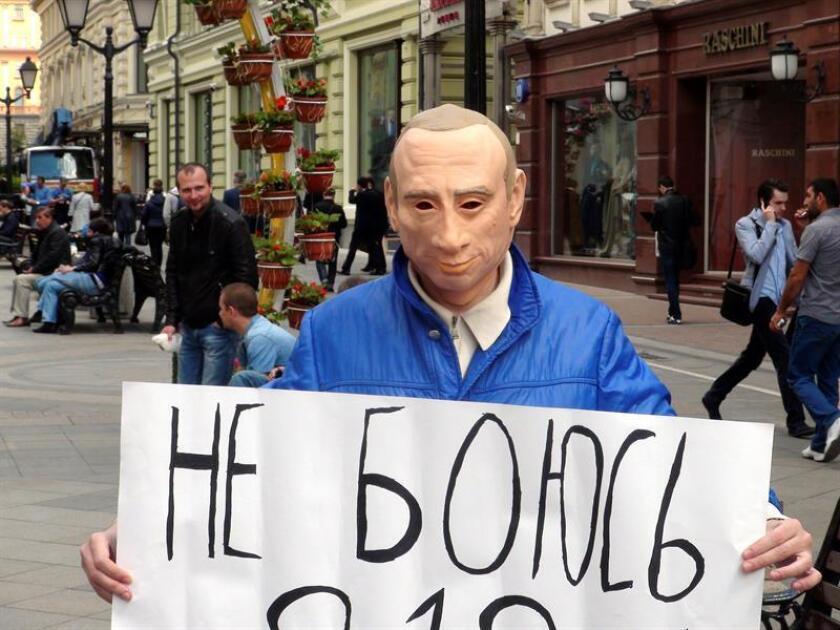 """El Gobierno denunció hoy una """"erosión"""" de la libertad de prensa en Rusia días antes de la cumbre entre el presidente, Donald Trump, y el mandatario ruso, Vladímir Putin, el 16 de julio en Helsinki. EFE/ARCHIVO"""