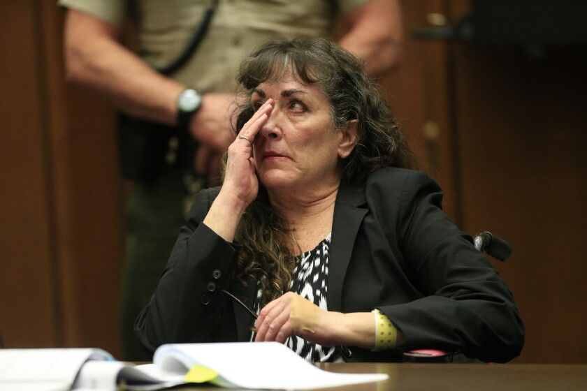 Sherri Lynn Wilkins, a former substance abuse counselor, was sentenced Thursday to 55 years to life in prison for fatally hitting a pedestrian while intoxicated.