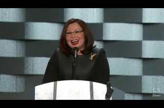 Rep. Tammy Duckworth of Illinois speaks at the Democratic National Convention