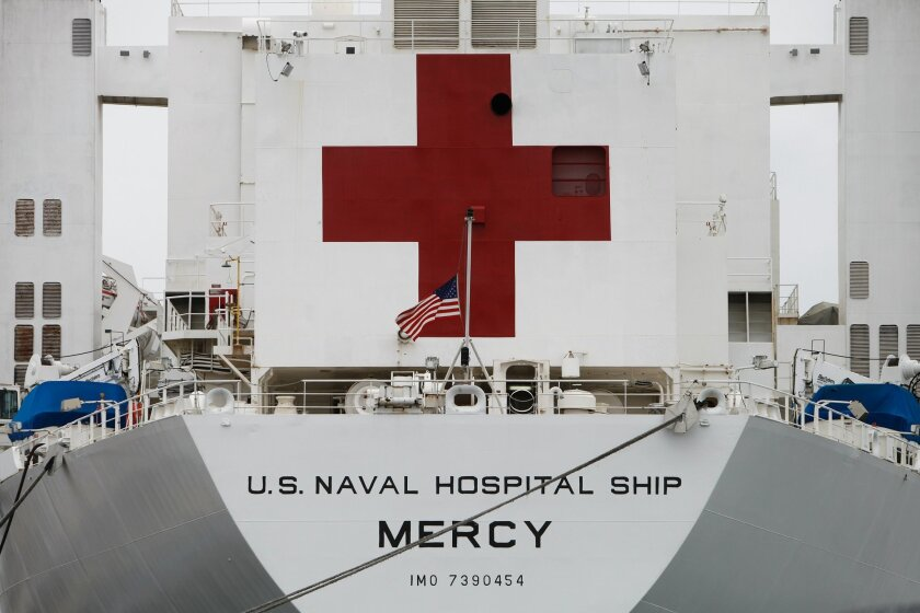 Navy hospital ship Mercy (T-AH 19) departed San Diego on May 17, 2015, for the 10th annual Pacific Partnership humanitarian and disaster response mission.