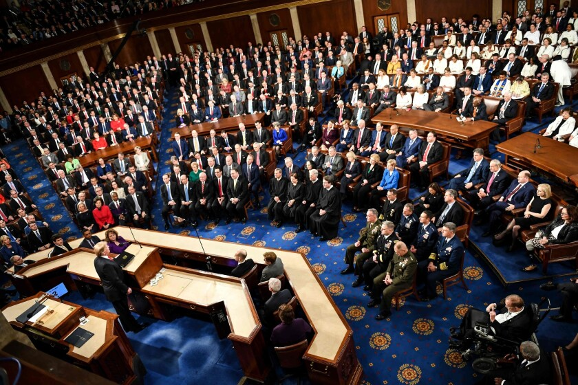 President Trump delivered his second State of the Union address to a Joint Session of Congress on Feb. 5, 2019.