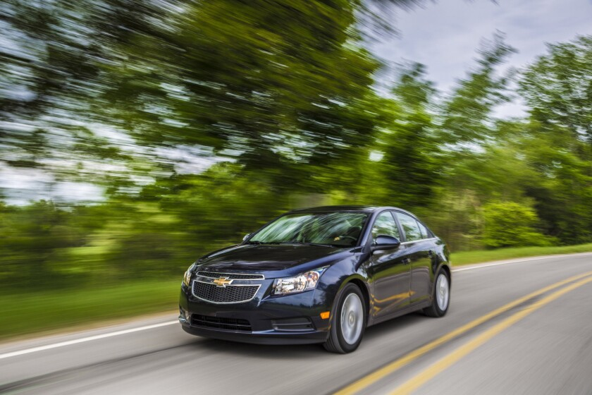 Only Chevrolet offers a relatively inexpensive alternative to VW's now-disgraced diesels. Above, the 2014 Cruze diesel.