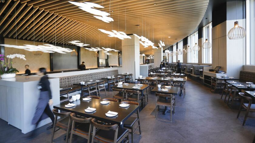 SAN DIEGO, CA 11/27/2018: The inside of the restaurant, Din Tai Fung, at the Westfield UTC, a new As