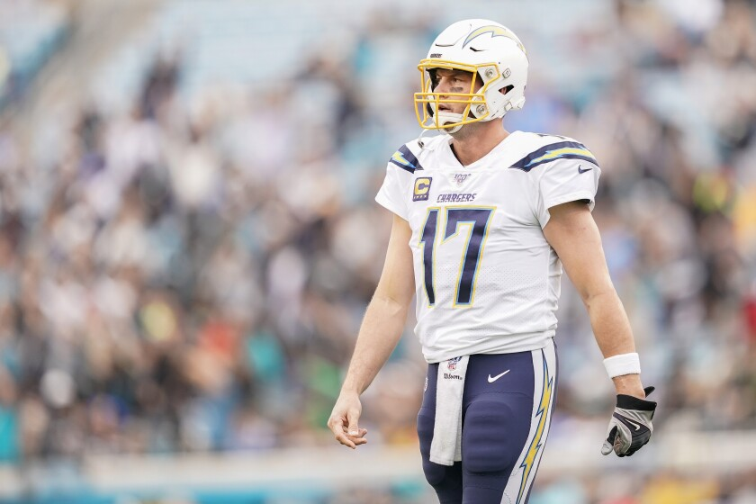 Philip Rivers might be playing his final home game with the Chargers this weekend in Carson.