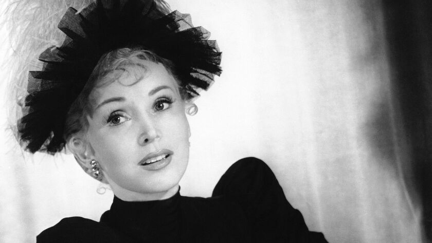"""Zsa Zsa Gabor, as she appeared in John Huston's 1952 Technicolor production """"Moulin Rouge."""""""